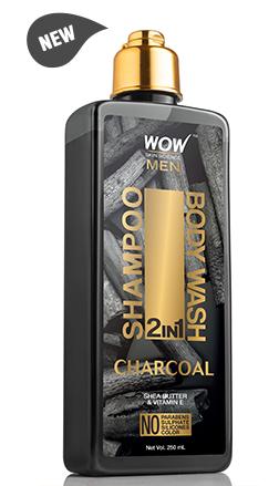 WOW Skin Science Charcoal 2 In 1 Shampoo & Body Wash