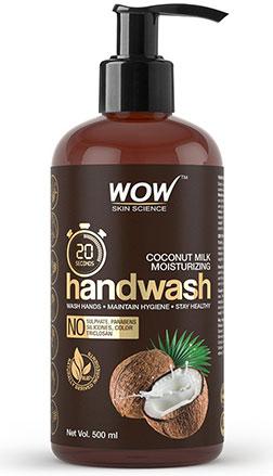 WOW Skin Science coconut Handwash product