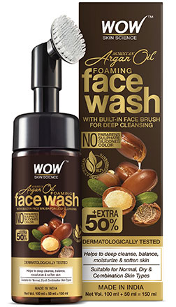 WOW Skin Science MoroccanArganOil Facewash with brush product