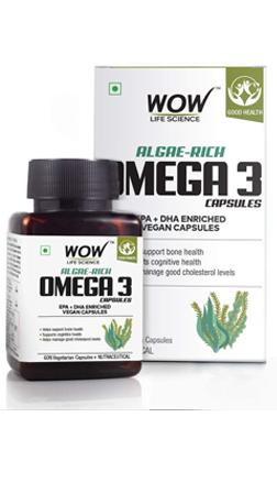 WOW Life Science Algae-Rich Omega 3 Capsules