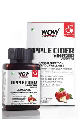 WOW Life Science Apple Cider Vinegar Supplement