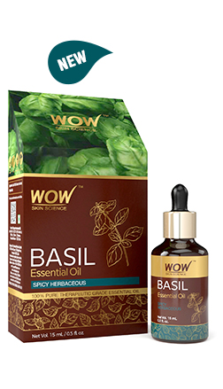 WOW Skin Science Basil Essential Oil