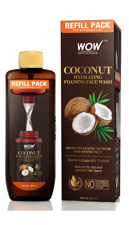 WOW SKIN SCIENCE COCONUT HYDRATING FOAMING FACE WASH - REFILL PACK