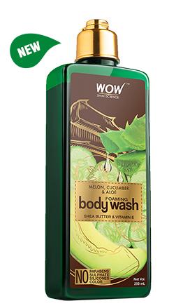 WOW Skin Science Melon, Cucumber & Aloe Foaming Body Wash