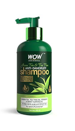 WOW Green Tea & Tea Tree Shampoo bottle