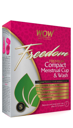 WOW Skin Science Freedom Reusable Menstrual Cup And Wash Post Childbirth - Small (Under 30 Years)