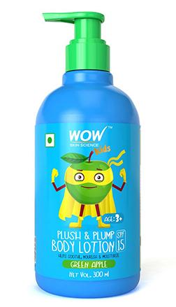 WOW Skin Science Kids Plush & Plump Body Lotion-GreenApple-300ml product
