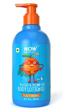 WOW Skin Science Kids Plush & Plump Body Lotion-Orange-300ml product