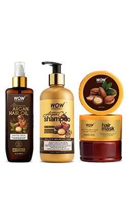 WOW Skin Science Shine Ritual Kit With Moroccan Argan Oil