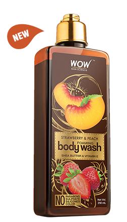 WOW Skin Science Strawberry & Peach Foaming Body Wash