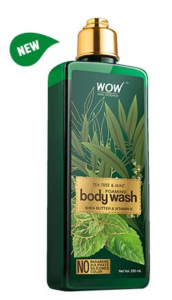 WOW Skin Science Tea Tree & Mint Foaming Body Wash