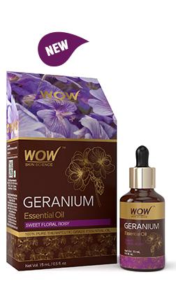WOW Skin Science Geranium Essential Oil