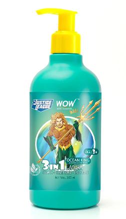 Wow Skin Science Kids Ocean King 3 - in - 1 Wash, Aquaman  - Shampoo + Conditioner + Bodywash