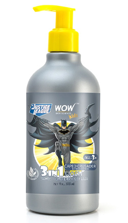 WOW Skin Science Kids Caped Crusader 3-in-1 Wash