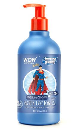 WOW Skin Science Kids Blue Guardian Body Lotion - Superman