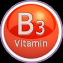Vitamins B3 and E